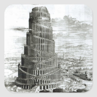 The Tower of Babel, 1679 Square Sticker