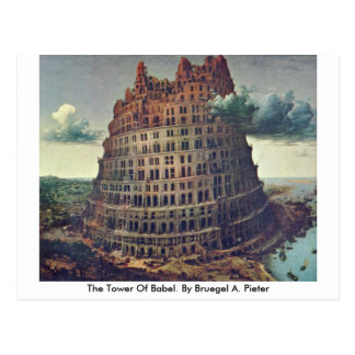 The Tower Of Babel. By Bruegel A. Pieter Postcard