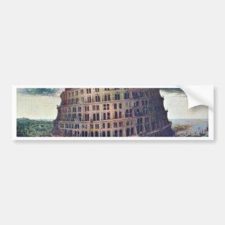 The Tower Of Babel. By Pieter Bruegel Car Bumper Sticker
