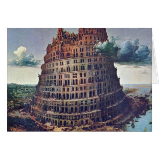 The Tower Of Babel. By Pieter Bruegel Greeting Card
