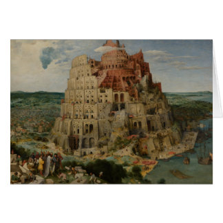 The Tower of Babel by Pieter Bruegel Greeting Card