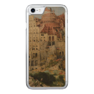 The Tower of Babel by Pieter Bruegel Carved iPhone 7 Case