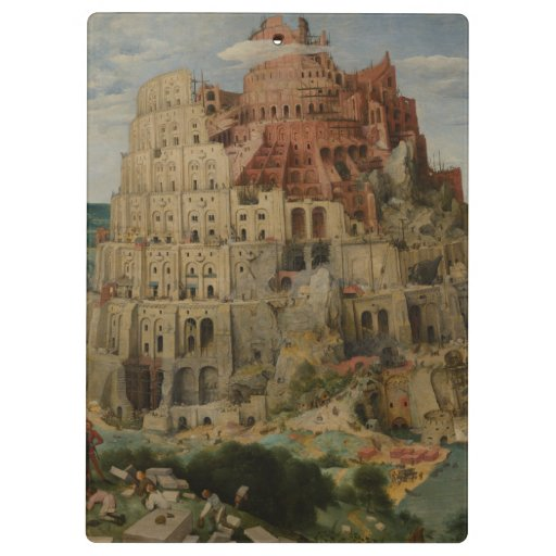The Tower of Babel by Pieter Bruegel Clipboards