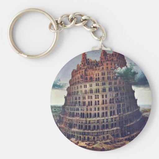 The Tower Of Babel. By Pieter Bruegel Key Chain