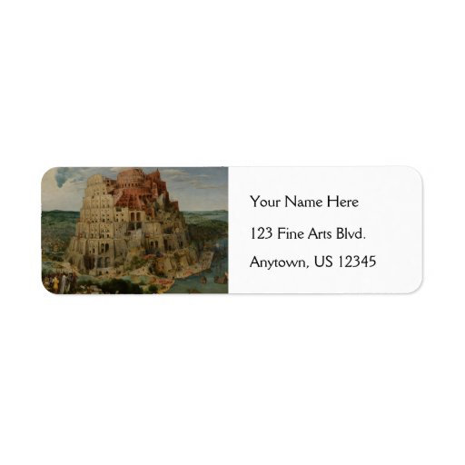 The Tower of Babel by Pieter Bruegel Custom Return Address Labels