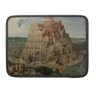 The Tower of Babel by Pieter Bruegel Sleeves For MacBook Pro