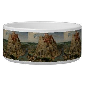 The Tower of Babel by Pieter Bruegel Pet Water Bowl