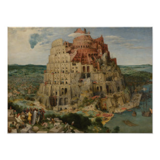 The Tower of Babel by Pieter Bruegel Photograph