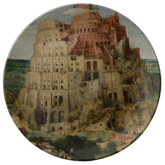 The Tower of Babel by Pieter Bruegel Plate