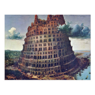 The Tower Of Babel. By Pieter Bruegel Postcard