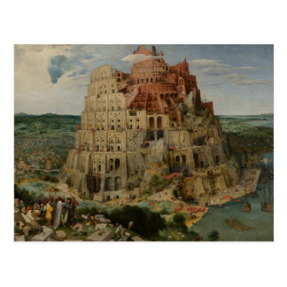 The Tower of Babel by Pieter Bruegel Postcard