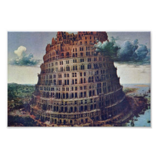 The Tower Of Babel. By Pieter Bruegel Posters
