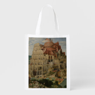 The Tower of Babel by Pieter Bruegel Reusable Grocery Bag