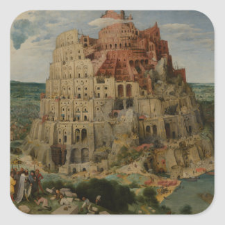 The Tower of Babel by Pieter Bruegel Square Sticker