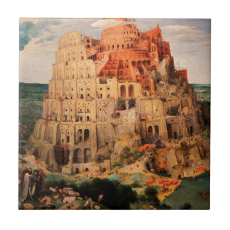 The Tower of Babel by Pieter Bruegel the Elder Ceramic Tile