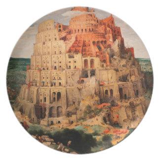 The Tower of Babel by Pieter Bruegel the Elder Dinner Plate