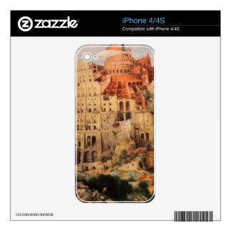 The Tower of Babel by Pieter Bruegel the Elder iPhone 4S Skin