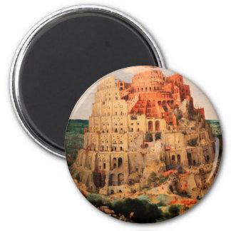 The Tower of Babel by Pieter Bruegel the Elder Magnet