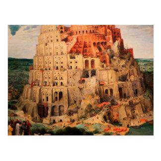 The Tower of Babel by Pieter Bruegel the Elder Postcard
