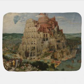 The Tower of Babel by Pieter Bruegel Receiving Blanket