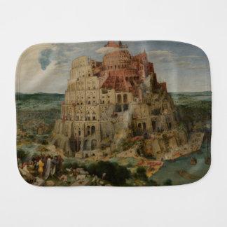 The Tower of Babel by Pieter Bruegel Burp Cloth