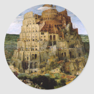 The Tower of Babel Classic Round Sticker