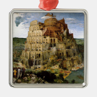 The Tower of Babel Metal Ornament
