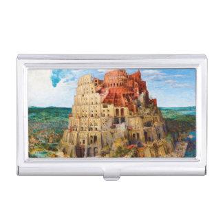 The Tower of Babel Pieter Bruegel the Elder art Business Card Holder