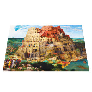 The Tower of Babel Pieter Bruegel the Elder art Stretched Canvas Prints