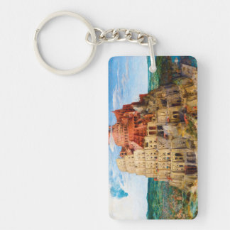 The Tower of Babel Pieter Bruegel the Elder art Double-Sided Rectangular Acrylic Keychain