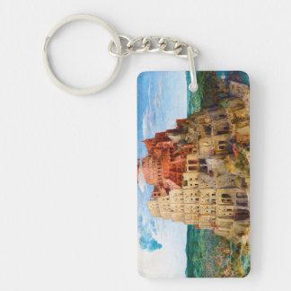 The Tower of Babel Pieter Bruegel the Elder art Rectangular Acrylic Keychains