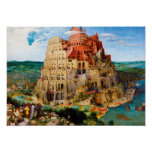 The Tower of Babel Pieter Bruegel the Elder art Poster