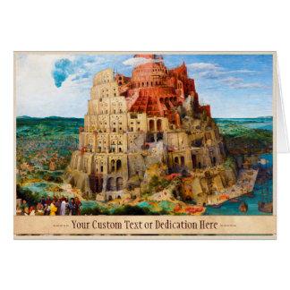 The Tower of Babel Pieter Bruegel the Elder art Stationery Note Card