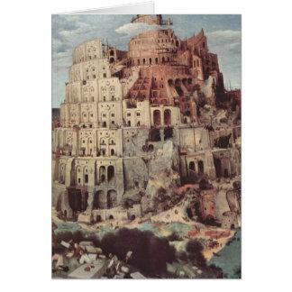 The Tower of Babel - Pieter Bruegel the Elder Greeting Card