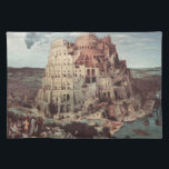 """The Tower of Babel - Pieter Bruegel the Elder Cloth Placemat<br><div class=""""desc"""">The Tower of Babel is one of the most famous painting by Pieter Bruegel the Elder.</div>"""