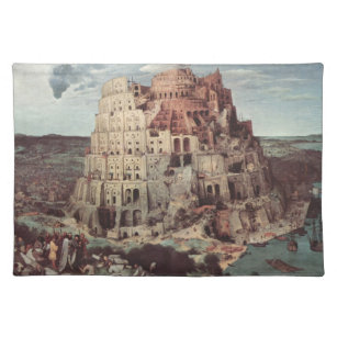 The Tower of Babel - Pieter Bruegel the Elder Cloth Placemat