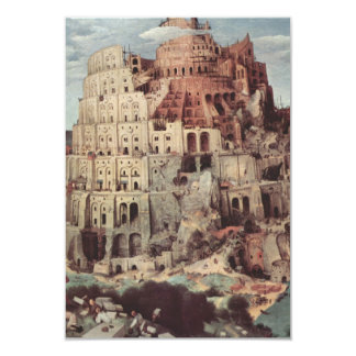 The Tower of Babel - Pieter Bruegel the Elder 3.5x5 Paper Invitation Card