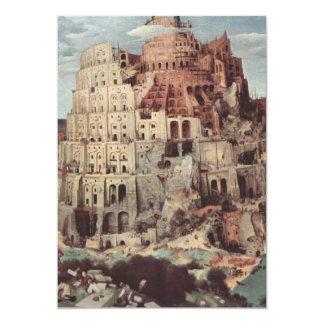 The Tower of Babel - Pieter Bruegel the Elder 5x7 Paper Invitation Card