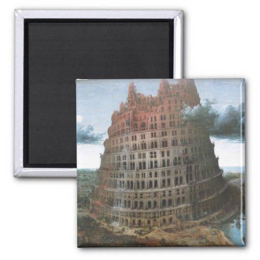 The Tower of Babel - Pieter Bruegel the Elder Refrigerator Magnet