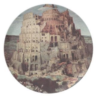 The Tower of Babel - Pieter Bruegel the Elder Melamine Plate