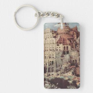 The Tower of Babel - Pieter Bruegel the Elder Single-Sided Rectangular Acrylic Keychain