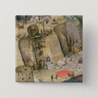 The Tower of Babel Pinback Button