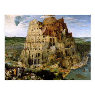 The Tower of Babel Postcard