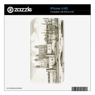 The Tower of London, 1647 (engraving) Skins For iPhone 4