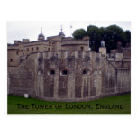 The Tower of London, England postcard