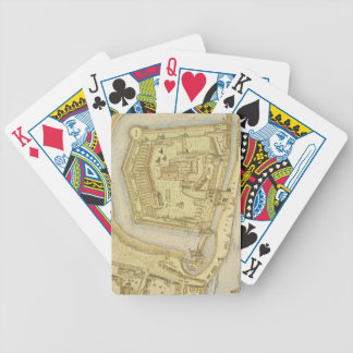 The Tower of London, from a survey made in 1597 by Bicycle Playing Cards