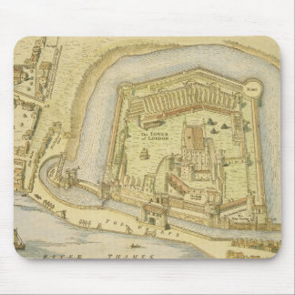 The Tower of London, from a survey made in 1597 by Mouse Pad