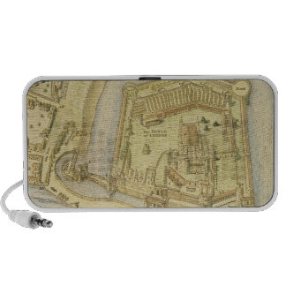 The Tower of London, from a survey made in 1597 by iPhone Speaker