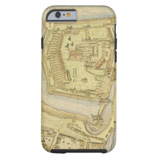 The Tower of London, from a survey made in 1597 by Tough iPhone 6 Case