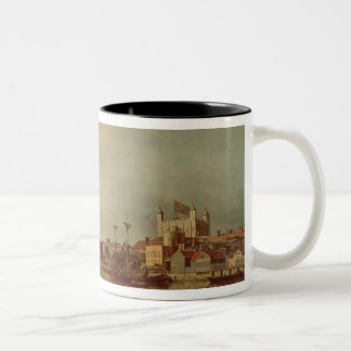 The Tower of London from the Thames Two-Tone Coffee Mug
